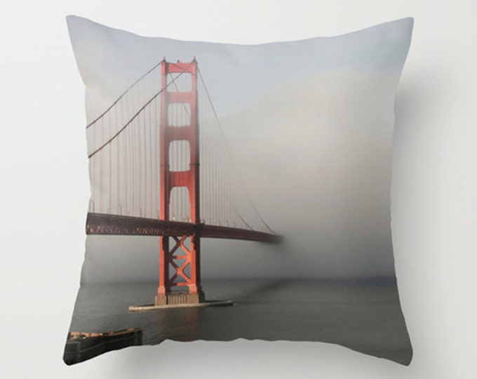 Golden Gate Bridge Photo Pillow Cover Cushion Cover 18x18 or 22x22