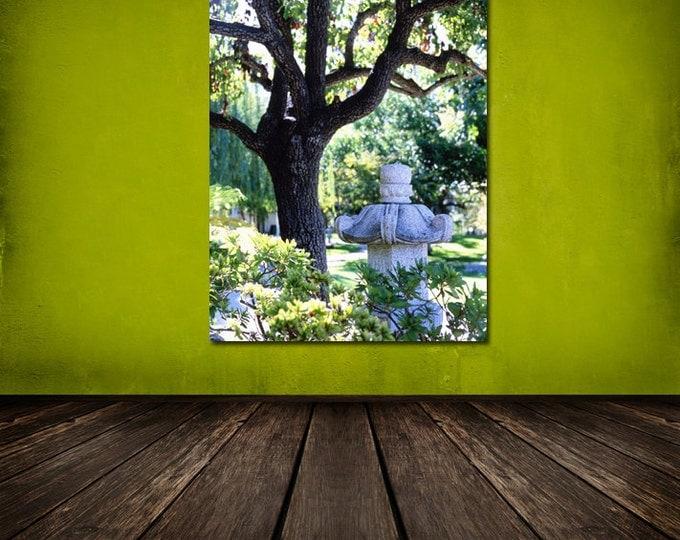 Path To The Japanese Tea House, Garden with Lantern, Urban Landscape - 8x10 Fine Art Photograph