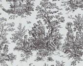 Jamestown Toile Fabric -- 1 yard -- Brown Toile