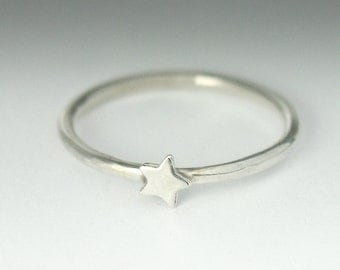Star Ring, Star Stackable Silver Ring, Dainty Star Ring, Sterling Silver Star, Star Stack Ring, Star Stacking Ring, Small Star, Silver Star