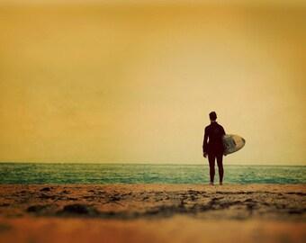 Venice Beach Surf Photography, Beach Decor, Ocean Photography, Surfer Art Print, California Beach Photo, Endless Summer - Waiting In Venice
