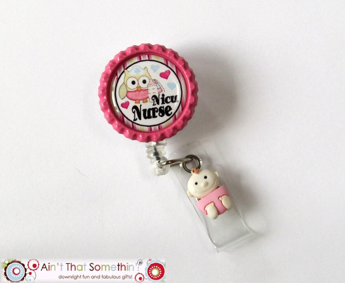 Nicu Retractable Badge Reel Nicu Nurse ID Holder Nicu ID