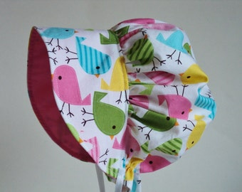 Baby Bonnet - Baby Sun Hat - Sun Bonnet - Baby Sun Bonnet - Summer Bonnet - Toddler Bonnet - Baby Hat - Baby Girl Bonnet - Made To Order