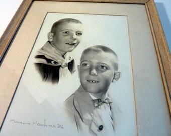 1950's Framed Black and White Photograph
