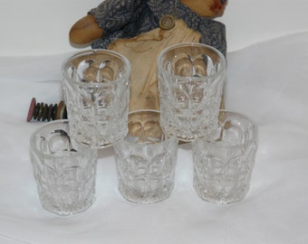 Glass Tumbler Set  Miniature Vintage