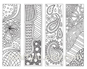 Items similar to Make Your Own Bookmarks, Paisley Printable ...