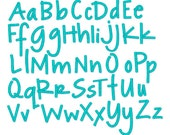 """Instant Download- Embroidery Font 225 - Sizes 1"""",2"""",3"""" - Machine Embroidery Font"""