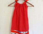 SALE Pillowcase Dress - Red Dot Dr. Seuss- made to order 12 - 24 months - 5