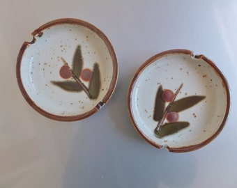 Original Japan Bittersweet Ashtray Pair