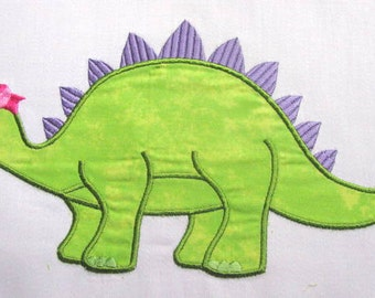 Girly Dinosaurs 03 Machine Applique Embroidery Design - 4x4, 5x7 & 6x8