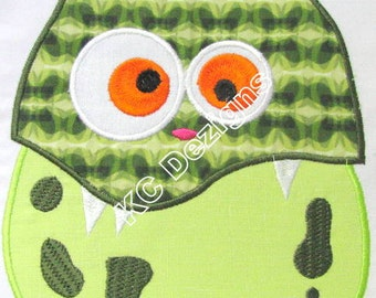 Cute Monsters 05 Machine Applique Embroidery Design - 4x4, 5x7 & 6x8