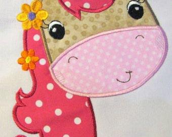Farm Friends For Girls - Horse Face 02 Machine Applique Embroidery Design - 4x4, 5x7 & 6x8