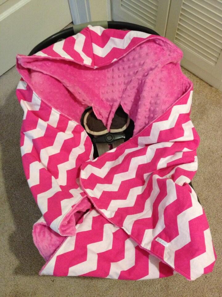 hooded infant car seat blanket minky by kdsquared on etsy. Black Bedroom Furniture Sets. Home Design Ideas