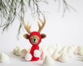 CHILDREN WALL ART Photo Print, home, kids room or nursery decor, winter reindeer