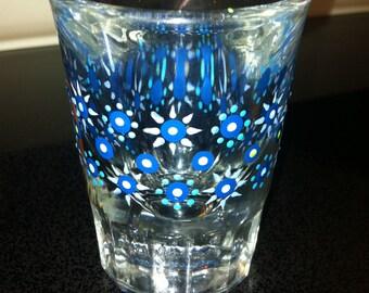 Unique Hand Painted Shot Glass