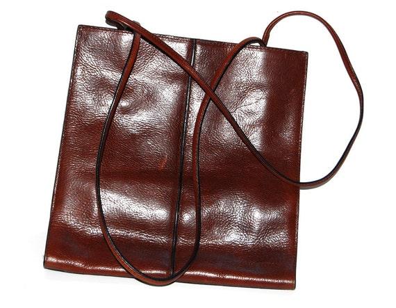 Back To School 80s Wilsons Leather Vintage Brown Shoulder
