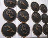 SALE Bookends Mid Century Zodiac Home Decor Horoscope Astrological