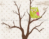 Owl Love You Forever 5x7 Print (you choose colors)