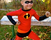 Parley Ray's Incredibles inspired Costume- Dash/ Mr. Incredible Elastagirl/ Violet Super Suit for Play, Dress Up, Halloween