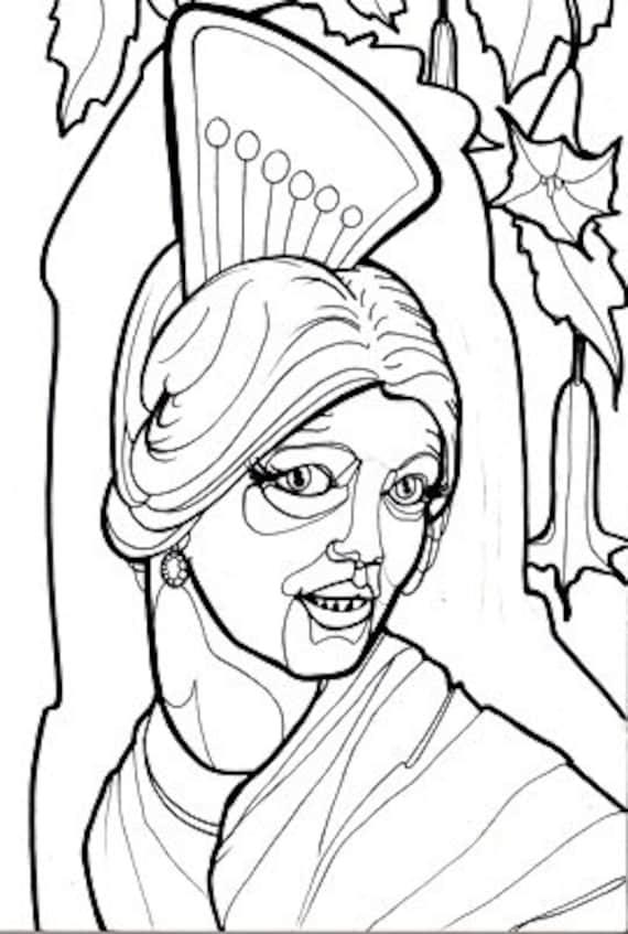 la llorona coloring pages - photo#2