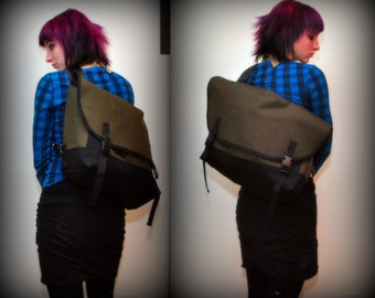 Waterproof Bike messenger bag , cordura, medium, durable single strap bag