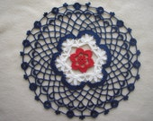 Red, White and Blue Doily / Centerpiece
