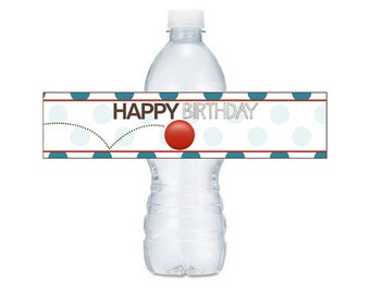 Ball Birthday - Water Bottle Lables