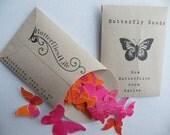 "Butterfly Seed Packet - 36 petit  Diecut Pieces - ""Destiny"" Set - Handmade packaging"