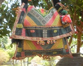 Tribal Vintage Hmong Bag Made With Upcycled Hilltribe Textile