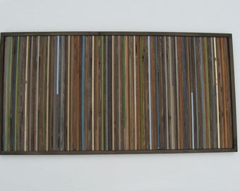 Reclaimed Wood Wall Art- Rustic Wall Art- Wood Wall Sculpture- Painting- Wood Wall Art