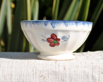 Vintage Cafe au Lait bowl, nice French Country Decor, Vintage Child's Bowl, French Kitchen decor, Digion-Sarreguemines