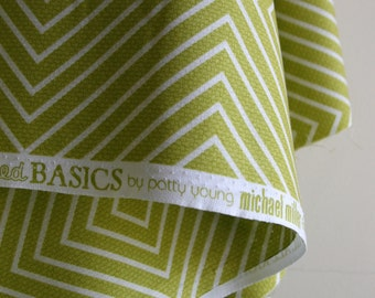 Diamonds in Lime by Patty Young from the Textured Basics Collection - Michael Miller Fabrics - ONE FAT QUARTER  Cut