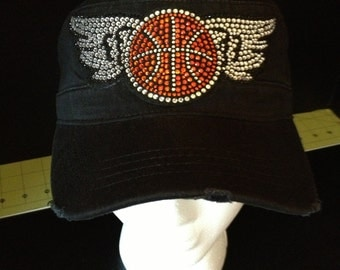 Basketball with Wings Embellished Hat