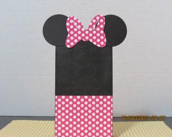 Minnie Mouse Favor/Gift Bags ( Mini Paper Sacks)