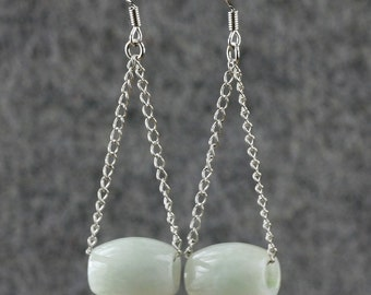 Jade dangling earrings bridesmaids gifts Free US Shipping handmade Anni designs