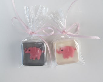 Pink Elephant Baby Shower Favors, 12, ANY COLOR