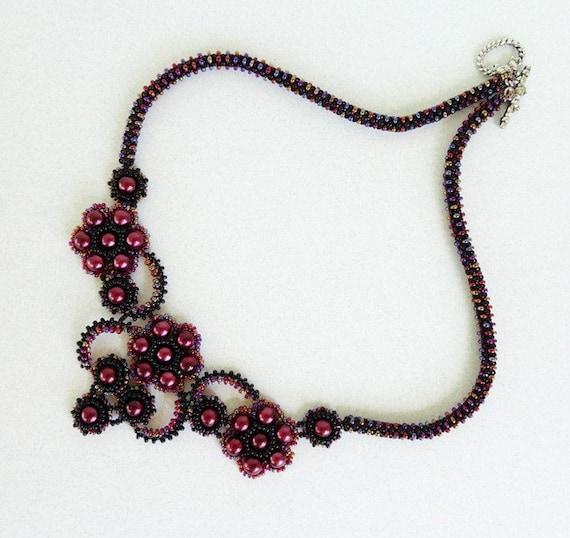 FRENCH KISS beaded necklace beading tutorial beadweaving