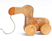 Personalized Wooden Dodo Bird, Pull Toy, Eco Friendly Kids Toy