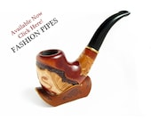 New Genuine Leather Pipe Stand Rack Holder Rest for Tobacco Smoking Pipe, Fits Medium Pipes. Handmade.....LIMITED Edition.....