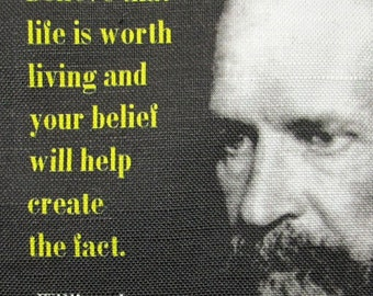 WILLIAM JAMES QUOTE 2- Printed Patch - Sew On - Vest, Bag, Backpack, Jacket p404