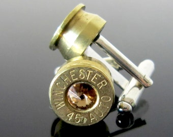 Winchester 45 Cufflinks in Topaz