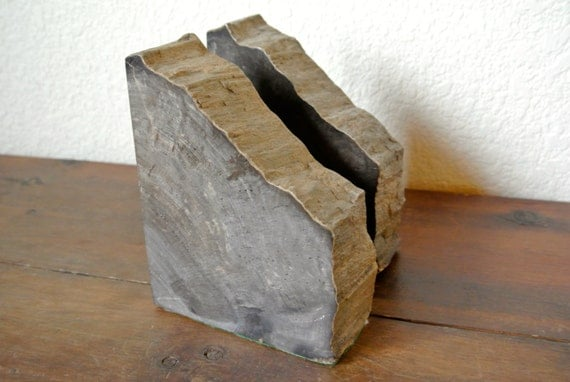 SALE: Pair of Vintage Petrified Wood Bookends