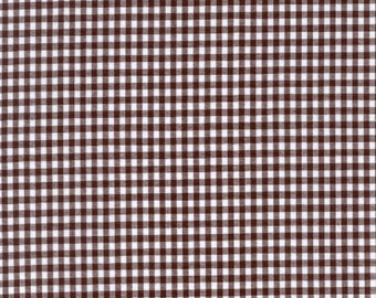 "Brown Gingham Check Fabric (1/8"" check) 20 Yards By The Bolt"