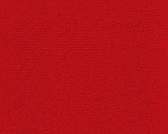 """44-45"""" Red (9 oz) Terry Cloth Fabric-15 Yards Wholesale By The Bolt"""