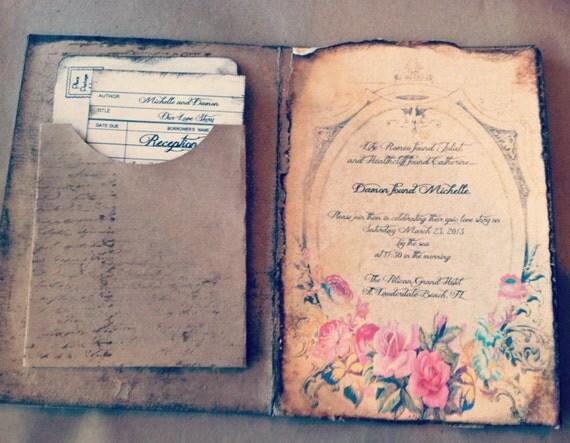 Wedding Invitations Handmade Ideas: Items Similar To Pocketfold Wedding Invitations Handmade