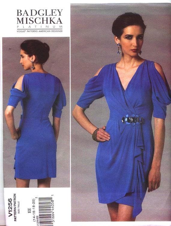 Badgley Mischka Platinum short formal dress pattern - Vogue 1256