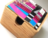 Wood Box made from Recycled Skateboards - Skateboard Art - one