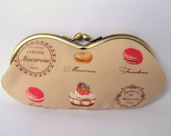 Paris Macaron Eyeglass Case - Sunglass Case - Eye Glass Case - Glasses Case - Sunglasses Case - Soft Eyeglass Case