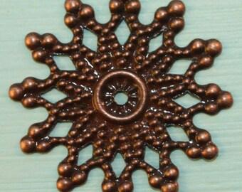 Copper Filigree Iron Flat Bead Cap (100 pcs) C44