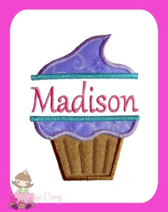 Split Cupcake Applique design